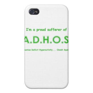 Ardilla de la hiperactividad del déficit de atenci iPhone 4 cárcasa