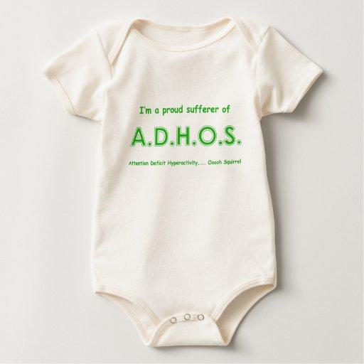 Ardilla de la hiperactividad del déficit de body para bebé