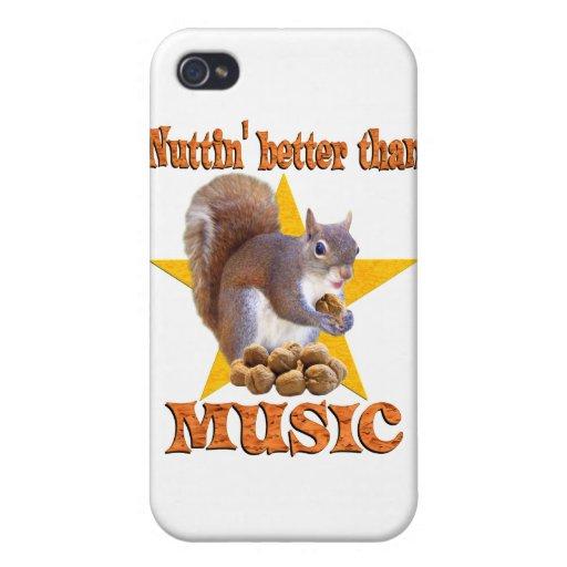 Ardilla de la música iPhone 4/4S carcasa