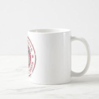 Ardilla de la reunión taza básica blanca