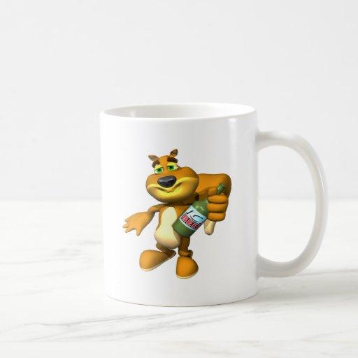 Ardilla de la reunión tazas de café
