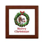 Ardilla de las Felices Navidad Cajas De Joyas