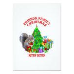 Ardilla de las felices Navidad Invitación 12,7 X 17,8 Cm