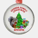 Ardilla de las felices Navidad Ornamentos De Reyes