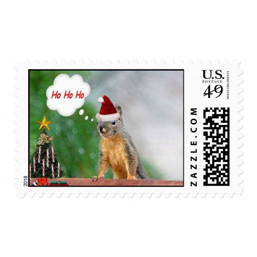¡Ardilla de las Felices Navidad que dice Ho Ho Ho! Envio