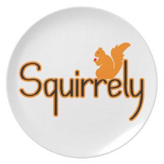 Ardilla de Squirrely Platos