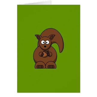 Ardilla del dibujo animado tarjeta de felicitación