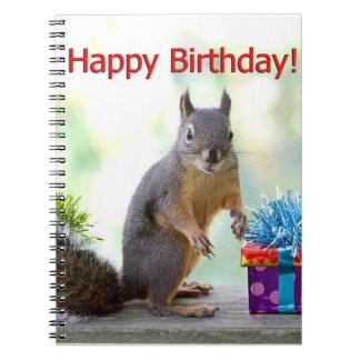 Ardilla del feliz cumpleaños cuadernos