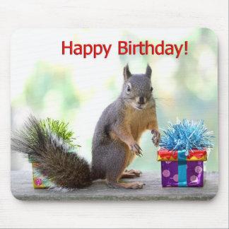 Ardilla del feliz cumpleaños alfombrilla de raton