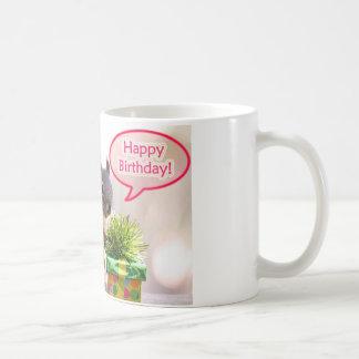 Ardilla del feliz cumpleaños tazas de café
