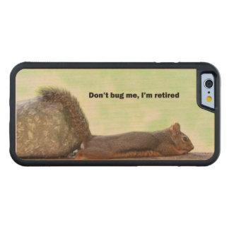 Ardilla del humor del retiro funda de iPhone 6 bumper arce