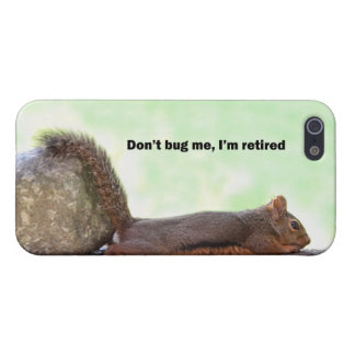 Ardilla del humor del retiro iPhone 5 funda