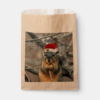 Ardilla del navidad bolsa de papel