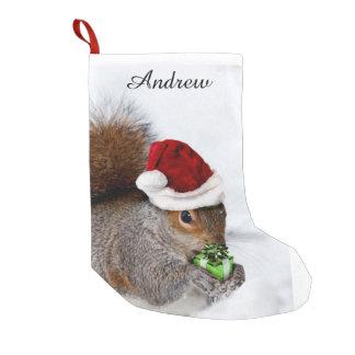 Ardilla del navidad bota navideña pequeña