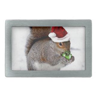 Ardilla del navidad hebillas de cinturón rectangulares
