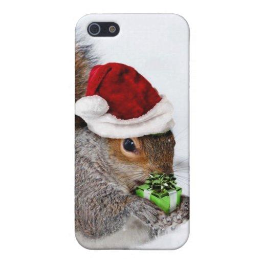 Ardilla del navidad iPhone 5 carcasa