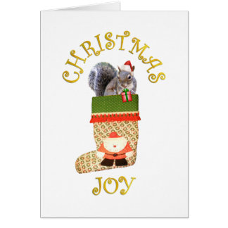 Ardilla del navidad tarjeta de felicitación