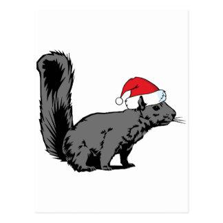Ardilla del navidad tarjetas postales