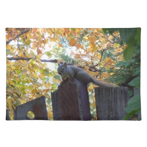 Ardilla del otoño III Mantel Individual