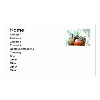 Ardilla del otoño plantillas de tarjetas personales