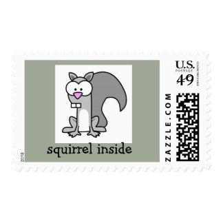 ardilla dentro sello