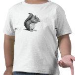 ARDILLA: Dibujo de lápiz realista: Peludo, lindo Camisetas