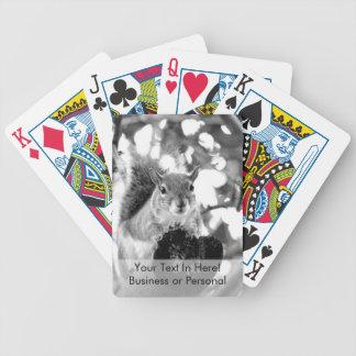 ardilla en animal lindo del bw del registro baraja de cartas