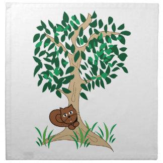 Ardilla en árbol servilletas