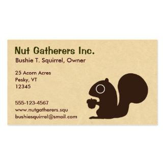 Ardilla en el pergamino tarjetas de visita