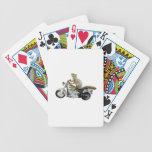 Ardilla en la motocicleta cartas de juego