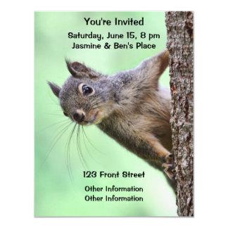 """Ardilla en un árbol invitación 4.25"""" x 5.5"""""""