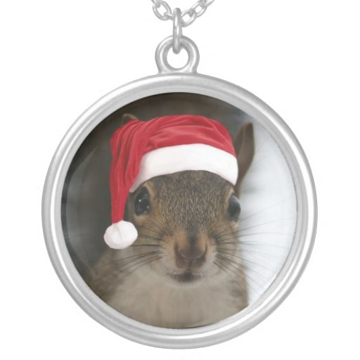 """Ardilla """"Felices Navidad """" de Santa Colgante Personalizado"""
