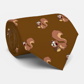 Ardilla feliz con la bellota corbata personalizada