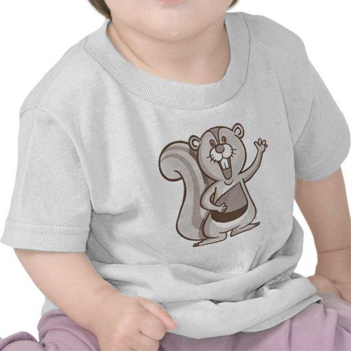 Ardilla feliz camisetas