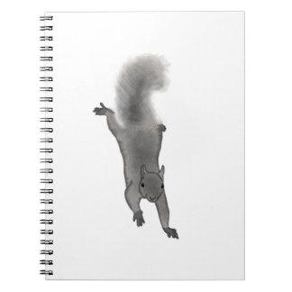 Ardilla gris dibujada Digital mullida que sube Libreta Espiral