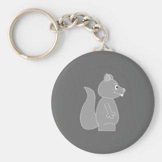 Ardilla gris llaveros personalizados