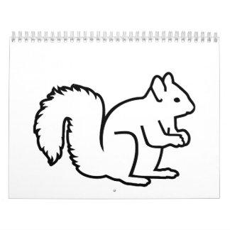 Ardilla linda calendario