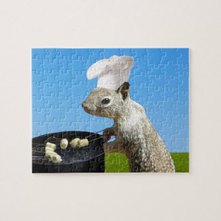 Ardilla linda de BBQing Puzzles Con Fotos
