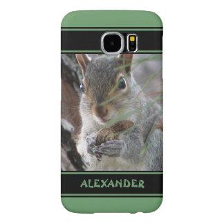 Ardilla linda de Z con el roedor de la naturaleza Funda Samsung Galaxy S6