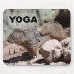 Ardilla Mousepad de la yoga Tapete De Ratones