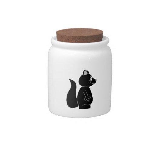 Ardilla negra jarra para caramelo