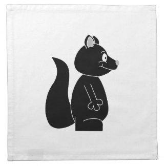 Ardilla negra servilleta de papel