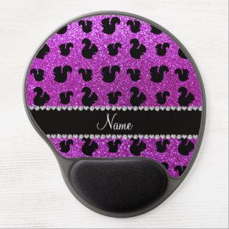 Ardilla púrpura de neón conocida personalizada del alfombrilla gel