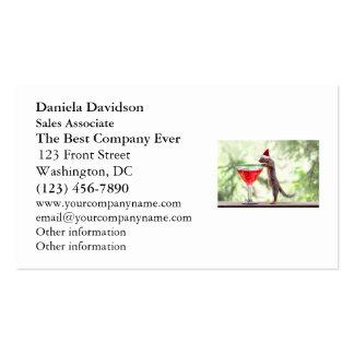 Ardilla que celebra navidad tarjeta personal