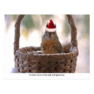Ardilla que lleva el gorra de Santa Postales