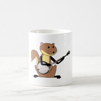 Ardilla que toca el banjo tazas