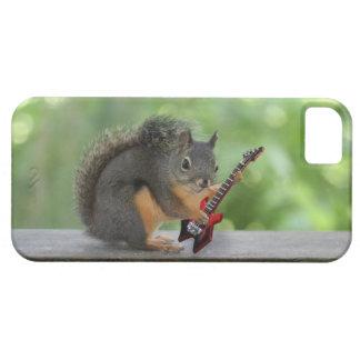 Ardilla que toca la guitarra eléctrica iPhone 5 carcasa