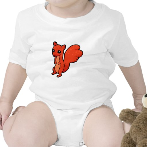 Ardilla roja del dibujo animado trajes de bebé
