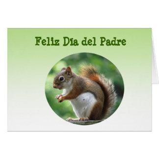Ardilla roja Dia del Padre Tarjeta De Felicitación