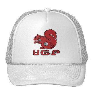 Ardilla roja gorras de camionero